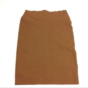 New Elle Couture Women's Pencil Brown Skirt 12